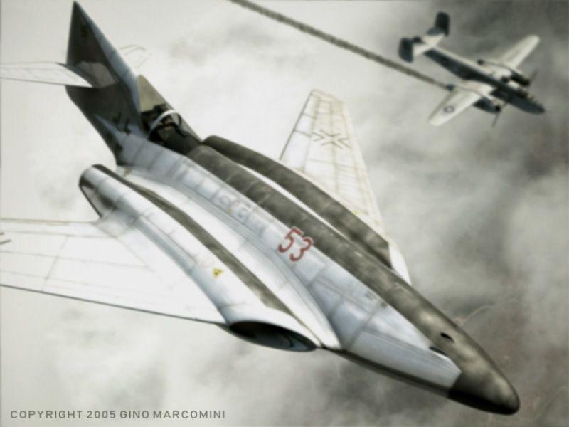 Gino Marcomini S Messerschmitt Me 262 Hg Iii Luft Art Images