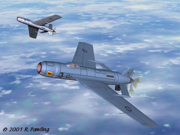 二战德国的概念飞机!佩服!